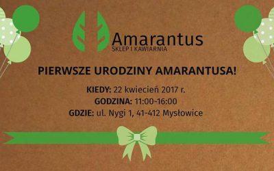 Bezpłatna konsultacja dietetyczna na I urodzinach Sklepu i Kawiarni Amarantus w Mysłowicach 22.04.2017r.