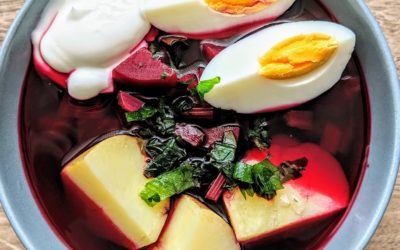 Botwinka z ziemniakami i jajkiem